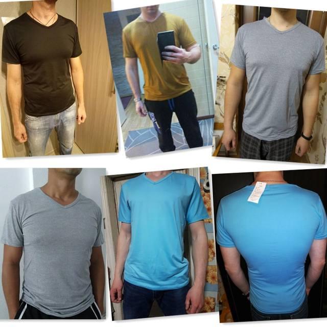 Elastic V Neck Men T Shirt Mens Fashion Short Sleeve Tshirt Fitness Casual Male T-shirt Brand Clothing Tee Tops 5XL