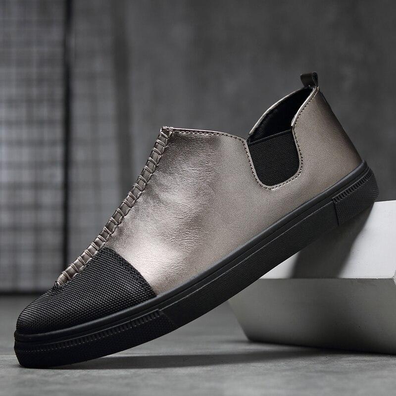 수제 남자 신발 고품질의 가죽 캐주얼 운전 - 남성용 신발 - 사진 2