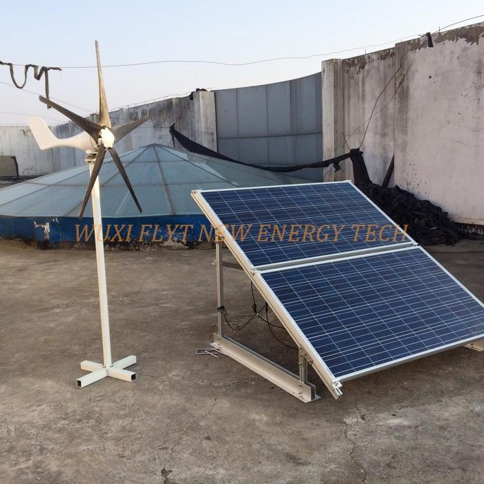 hot selling wind solar hybrid system 200w 12v horizontal wind generator + 100watt solar penals+wind solar hybrid controller