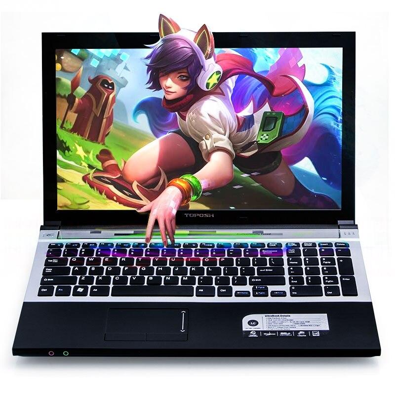 """נהג ושפת os זמינה 16G RAM 128g SSD 500G HDD השחור P8-24 i7 3517u 15.6"""" מחשב נייד משחקי מקלדת DVD נהג ושפת OS זמינה עבור לבחור (3)"""