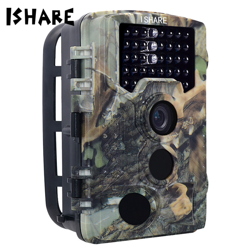 ISHARE HD 1080P Hunting Camera 16MP 25M Infrared Trail Scouting Wildlife Night Vision Trail Camera Outdoor Monitor Waterproof ...