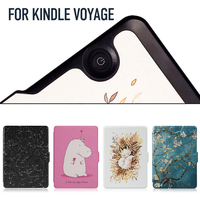 Case For Kindle Voyage Synthetic PU With Built In Magnet Features Auto Wakeup Sleep All New