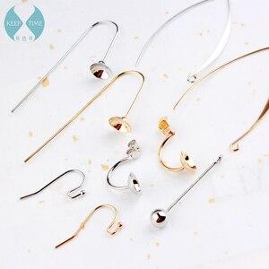Ritoule DIY copper jewelry accessories ear hook earrings earrings with homemade ear ring material pearl ear hook(China)