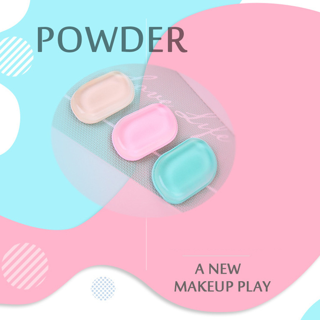 Cosmetic Puff 3 Kinds Of Candy Color Novelty Silicone Anti-sponge Cosmetic Applicator Blender Perfect Face Make Up Sponge 50* Crease-Resistance
