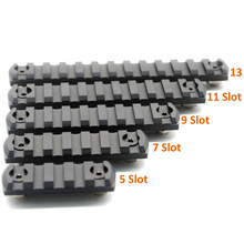 Black Anodized 5/7/9/11/13 Slots M-lok Picatinny/Weaver Rail Sections For M-lok Handguard Rail