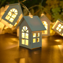 Hot Christmas Tree LED Night Light Mini House String Wedding New Year christmas ornaments Charm Festive night decorations