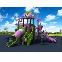 KIDS amusement plastic outdoor speeltuin glijbaan voor school/park/gemeenschap met CE/TUV