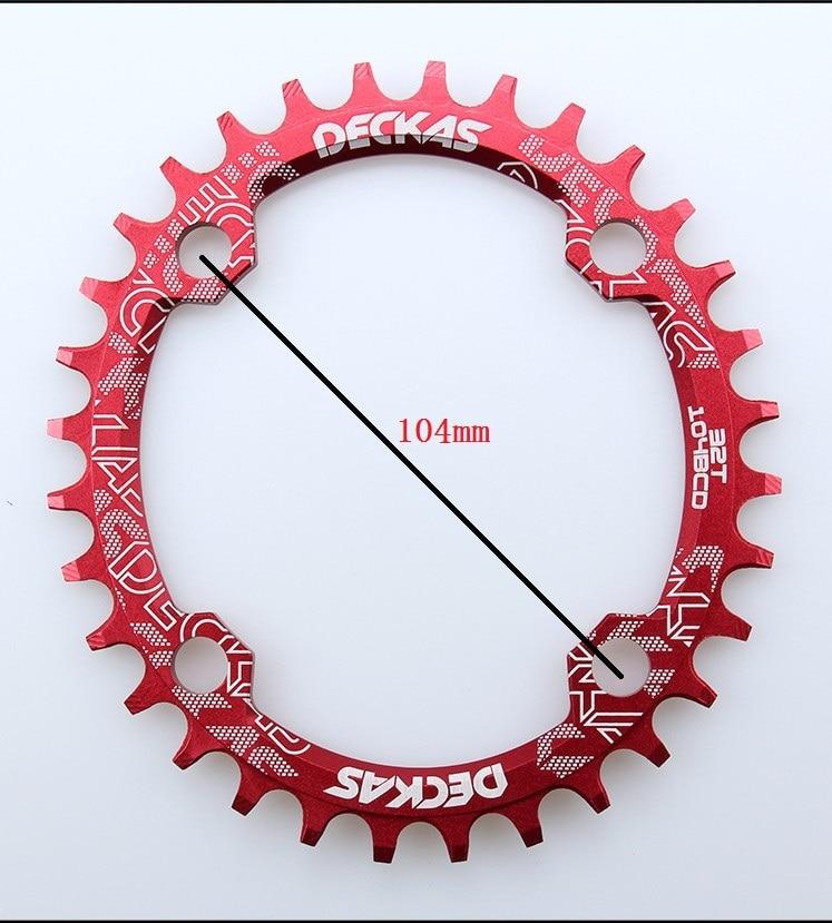 Цена за Звезду овальные BCD104mm 32 34 Т 36 38 MTB велосипед узкий широкий трансмиссии ovalado plato de la bicicleta