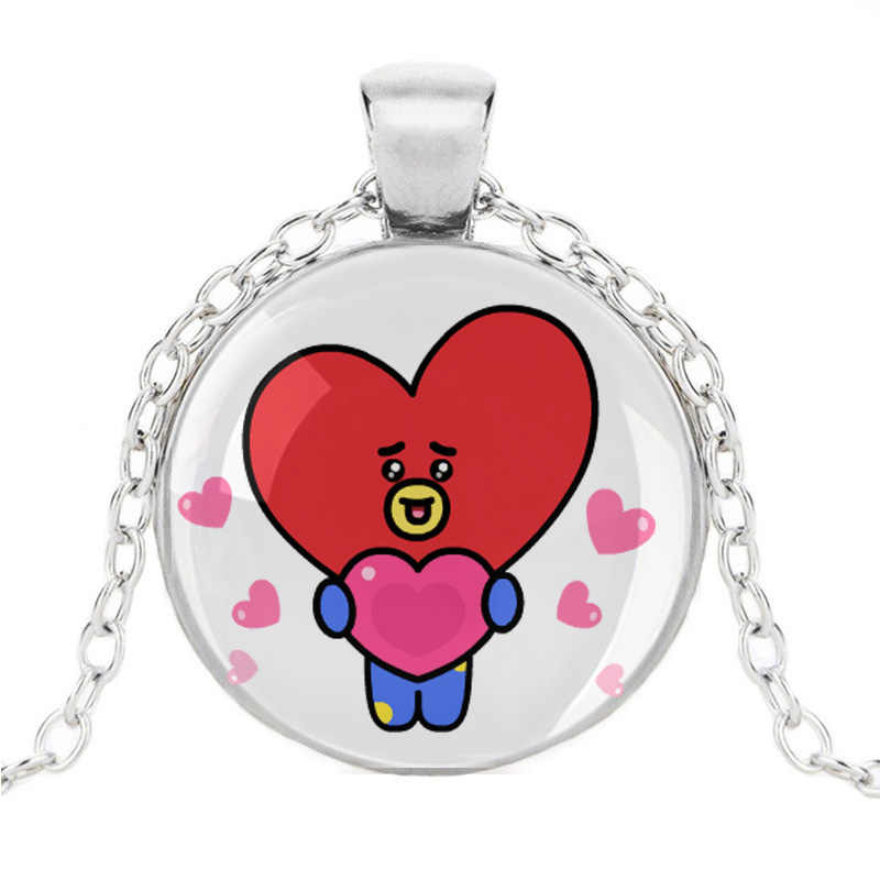 Cartoon BT21 Army Bomb Necklace Kpop  Boys Torque Pendant Jewelry Accessories For TATA VAN COOKY CHIMMY SHOOKY KOYA