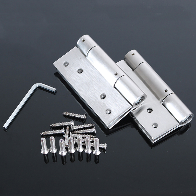 Automatic Door Closing Buffer Hinges Unidirectional Stealth Stainless Steel Hydraulic Spring Door Folding Sheet Hinge 2pcs цены