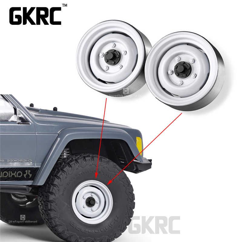 TRX4 Defender Bronco RC4WD D110 Axiale SCX10 90046 B stijl Klassieke Metalen 1.9 inch Wielnaaf Velg Beadlock Voor 1/10 RC Crawler Auto