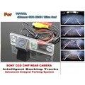 Para TOYOTA 4 Runner SW4 2002 ~ 2010/Para TOYOTA Hilux de Surf Faixas inteligentes Câmera Chip CCD HD Dinâmico Inteligente Retrovisor câmera