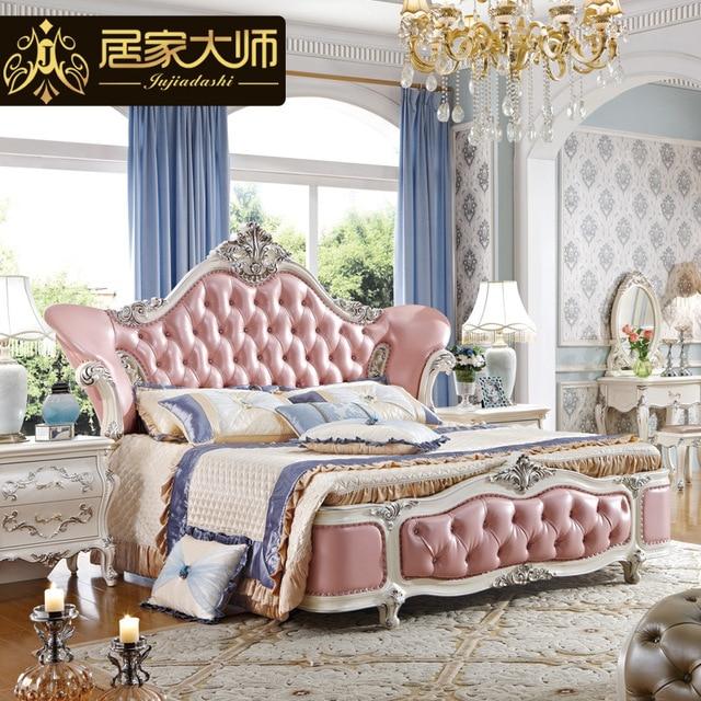 China Guangzhou Leather Modern Luxury Princess Bedroom