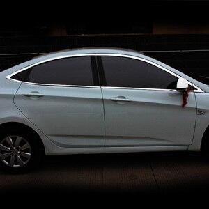 Image 2 - Vtear Dành Cho Xe Hyundai Solaris Phụ Kiện Cửa Sổ Viền Bao Bên Ngoài Trang Trí Cơ Thể Chrome Xe Ô Tô Sản Phẩm Tạo Kiểu Phụ Kiện 2011 2014