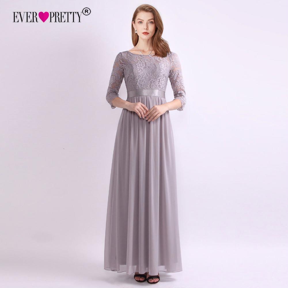 Ever Pretty Lace Bridesmaid Dresses New Arrival A-line O Neck V Back ...