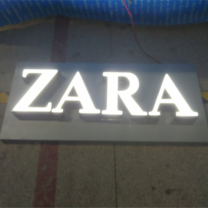 Outdoor Custom Led Lighting Signs Flower Shop Name Board