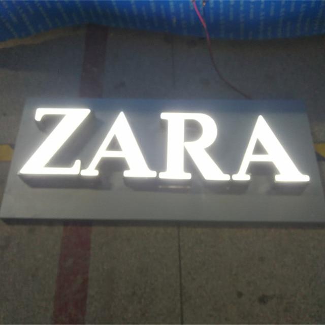 outdoor custom led verlichting tekenen bloem winkel naam board letters gratis verzending