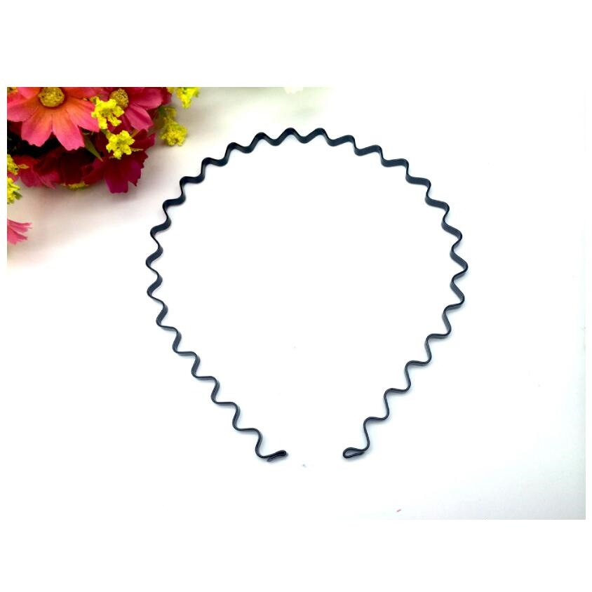 1pc Sale Flexible Metal Black color Wavy Hair Hoop Easy for Forehead Hair Fixed up Men a ...