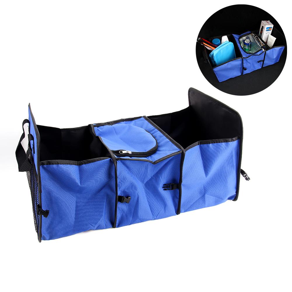 Prix pour Coffre de voiture Sac De Stockage Oxford Tissu Pliage Boîte De Rangement Tidy Sac Organisateur Boîte De Rangement avec Refroidisseur Sac Intérieur Accessoires
