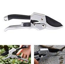 20cm Ratchet Garden Scissor Hand pruner anvil Branch Shear pruning cut secateur Shrub Orchard tool Plant trim horticulture