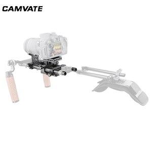 Image 1 - Camvateデジタル一眼レフカメラサポートキットベースプレートマウント & レンズsuppor & 三脚取付プレートケージ用/三脚/スタビライザー