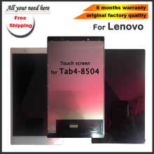 free shipping For Lenovo TAB 4 TB-8504 TB-8504F TB-8504N TB 8504 Lcd display Touch Screen Digitizer Assembly Replacement+tools 10 1inch lcd display touch screen digitizer with frame matrix for lenovo tab 3 10 plus tb x103f lcd module screen panel