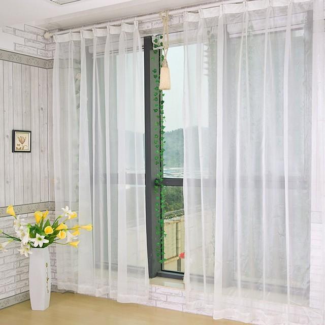 Gratuit match voilages blanc Tulle rideaux personnalisés Voile ...