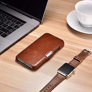 Image 5 - Icarer Genuine Leather Case for iPhone 12 Mini 11 Pro Max 6 7 8 Plus X XR XS Magnetic Closure Luxury Retro Slim Flip Phone Cover