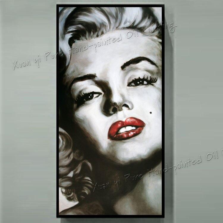 ᐊPintado a mano pintura al óleo Marilyn Monroe Decoración para el ...