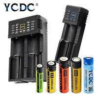 Ycdc поле AA/AAA/18650 Батарея + один/два слота Универсальный Зарядное устройство набор литиевая nicd nimh Аккумуляторы Мощность дисплей