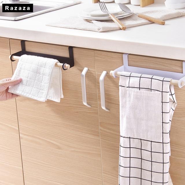 Iron + hout Keuken Toiletpapier Handdoekenrek Haak Papieren Handdoek ...