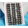 hot sell new - wholesale 30pairs 8mm round black beads pearls earrings Noble style Natural Fine jewe fast SHIPPING