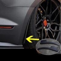 Qhcp carro mud flaps respingo guardas pára-lamas da roda traseira apto para ford mustang 2015 2016 2017 2018 2019 exterior acessórios