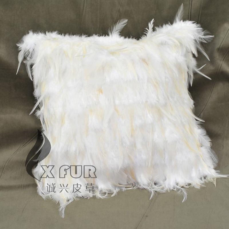 free shipping cx d 70c beautiful white pillowcase new style feather sofa cushion cover pillow case almofada car decorative