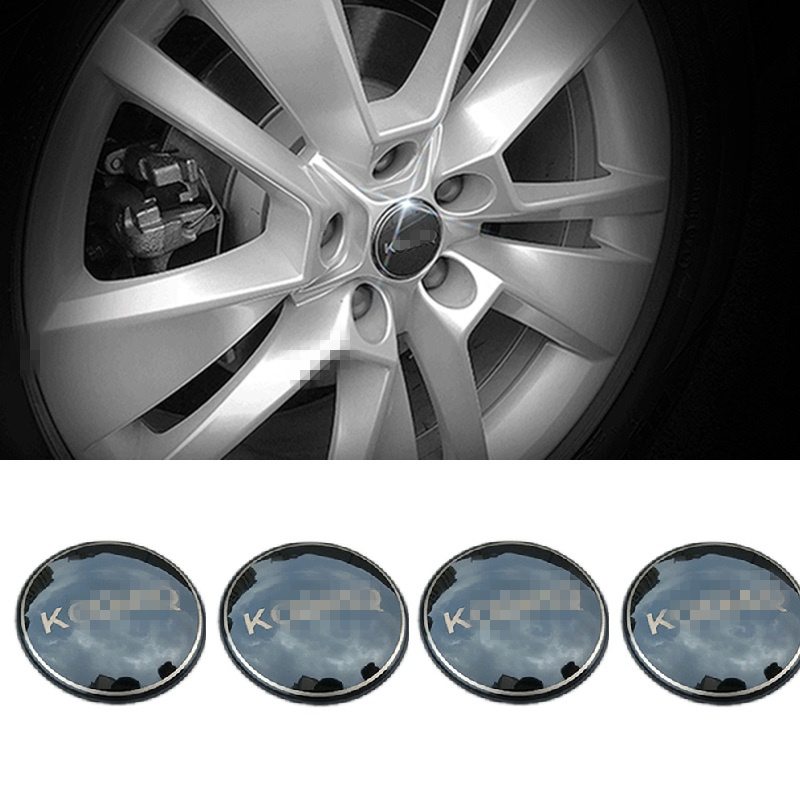 Stainless Steel <font><b>Car</b></font> Steering Tire <font><b>Wheel</b></font> <font><b>Center</b></font> <font><b>Hub</b></font> <font><b>Cap</b></font> <font><b>Car</b></font> sticker Emblem Badge For <font><b>Skoda</b></font> Kodiaq 2016 2017 Accessories image