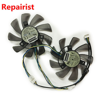 2pcs Lot Graphics Card Fan 4pin 85mm Gpu Vga Cooler For REDEON RX 570 GIGABYTE Rx570