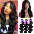 360 Lace Frontal With Bundles Queen hair Malaysian Body Wave 360 lace frontal closure with bundles body wave with 360 frontal