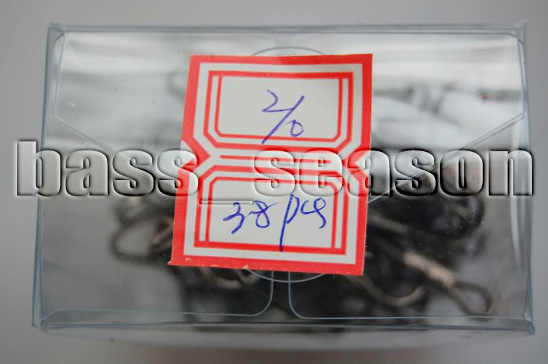 38 Pcs 2/0# Fishing Treble Hooks Black Fish Hooks