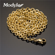 Modyle 2018 New Men Necklace Gold-Color Stainless Steel Necklace Chain Figaro for Gift 45cm-60cm Trendy Jewelry(China)