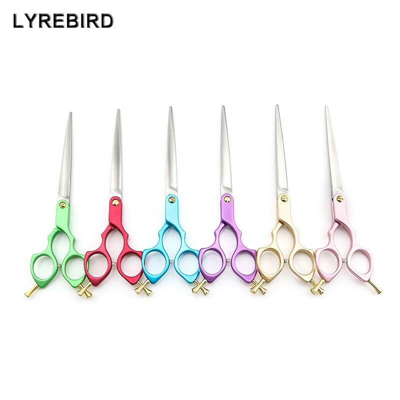 Professional Pet Dog Grooming Scissors 7 Inch Dog Hair Scissors 6 Color Handle Super Japan 440C Lyrebird TOP CLASS 5PCS/LOT NEW охотничий нож browning x 31 440c 57hrc 5 01831 5pcs lot