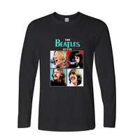 2017 Fashion Summer Style The Beatles Rock Printed Funny Long Sleeve T Shirt Men