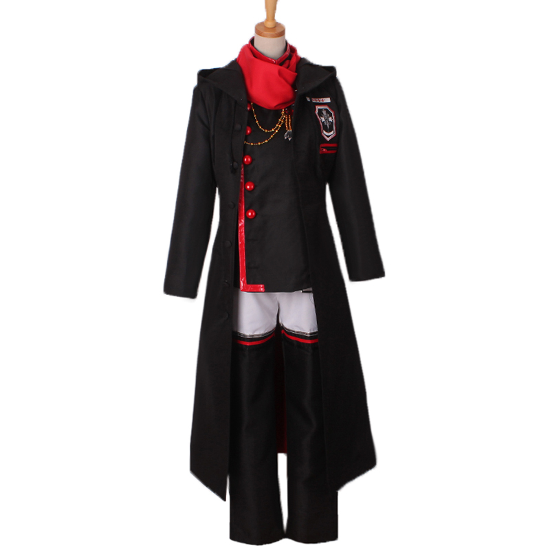 D. gris-homme Lavi Halloween Set Costume Cosplay avec manteau