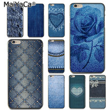 MaiYaCa Jeans Textile Blue Cloth Texture Special Offer Luxury phone case for iPhone 8 7 6 6S Plus X 10 5 5S SE 5C Coque Shell(China)
