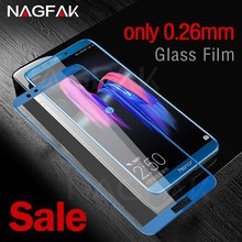 NAGFAK Anti-Scratch 0.26mm Tempered Glass For Huawei Honor 9 9 Lite V10 Screen Protector For Honor V10 9 Lite Protective Glass(China)