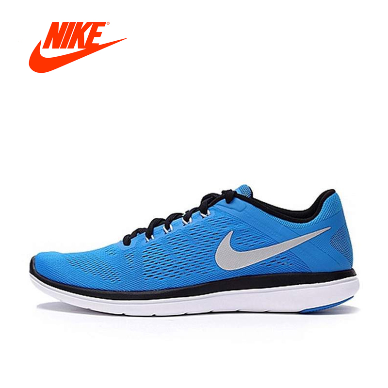 Original NIKE Summer Breathable Men's Running Shoes SneakerS Blue Breathable Athletic Shoes Classic Outdoor Sport Comfortable colour block breathable athletic shoes