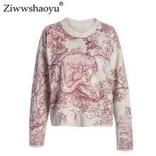 Ziwwshaoyu Casual Embroidery Sweater Fashion Animal O-Neck Thin Pullovers Sweater 2019 spring new women