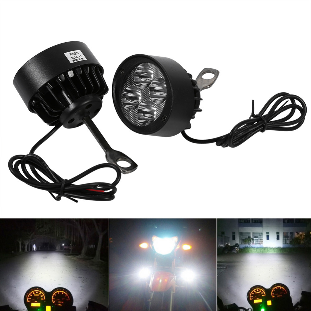 2Pcs LED Water-resistant Bycicle Front Light Headlamp Headlight Bike Lamp Saf Pn