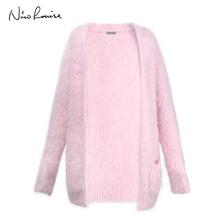 2018 Women Sweater Female Long Sleeve Velvet Cardigans Knitting Poncho For Girls Autumn Winter Fashion Thin Knitwear Pull Femme