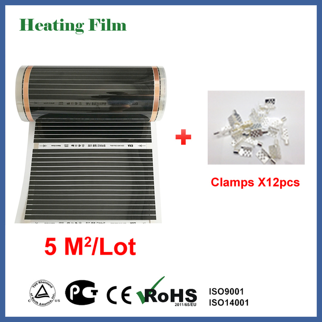 TF infrared floor heating film 5 square meters, 220W/square meters with 50CM width, 10M in length for bed room