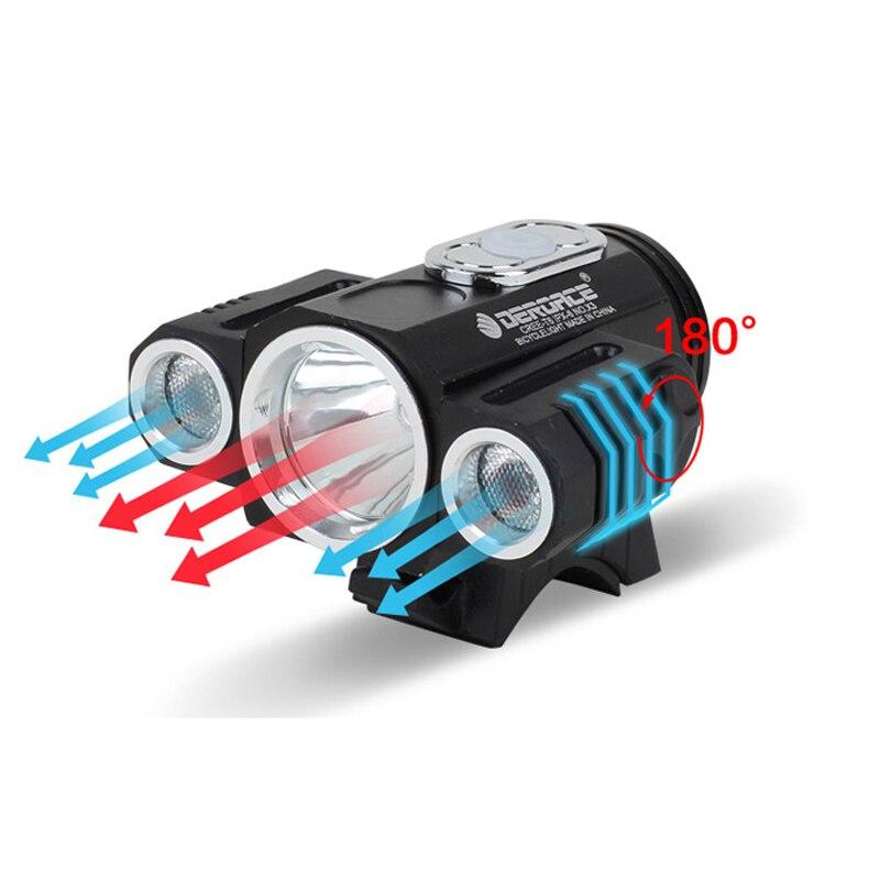LED Bicycle Lamp Bicycle Front Light USB T6 X3 180 Degree Adjustable MTB Cycling FlashLight Bike Headlight